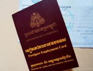 Il permesso di lavoro in Cambogia