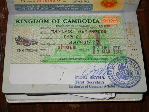 Come estendere il visto cambogiano